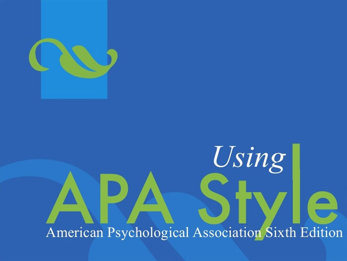 APA and Dissertations